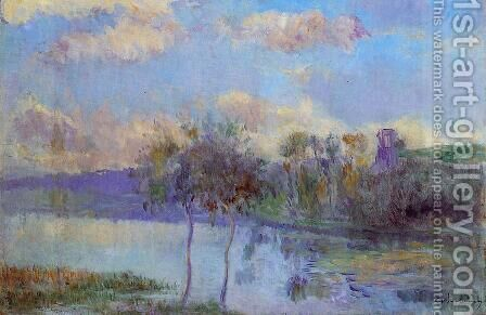 The Pond at Chalou-Moulineux, near Etampes by Albert Lebourg - Reproduction Oil Painting