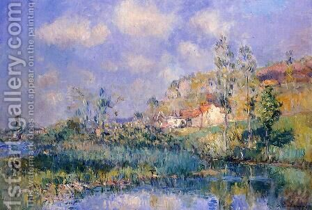 The Pond at Eysies by Albert Lebourg - Reproduction Oil Painting