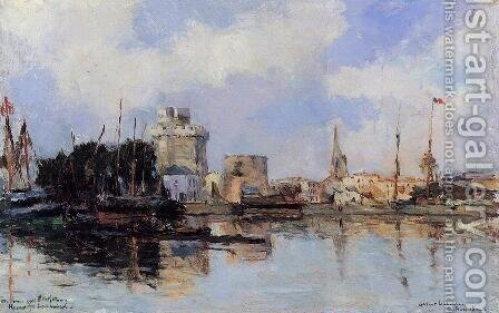 La Rochelle, the Harbor, Bright Sky by Albert Lebourg - Reproduction Oil Painting