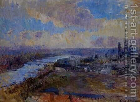 The Seine at Rouen I by Albert Lebourg - Reproduction Oil Painting