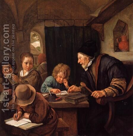 The Severe Teacher by Jan Steen - Reproduction Oil Painting