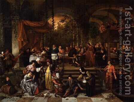 The Wedding Feast at Cana by Jan Steen - Reproduction Oil Painting