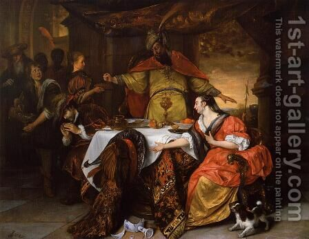 The Wrath of Ahasuerus by Jan Steen - Reproduction Oil Painting
