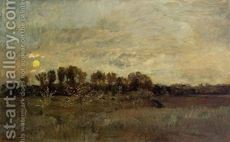 The Orchard at Sunset by Charles-Francois Daubigny - Reproduction Oil Painting