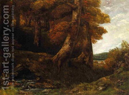 Entering the Forest by Gustave Courbet - Reproduction Oil Painting