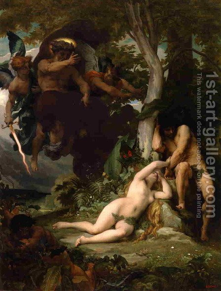 Paradise Lost by Alexandre Cabanel - Reproduction Oil Painting
