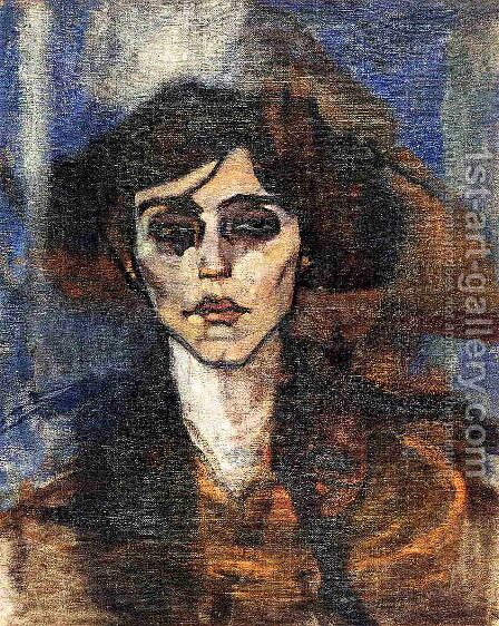 Portrait of Maude Abrantes by Amedeo Modigliani - Reproduction Oil Painting