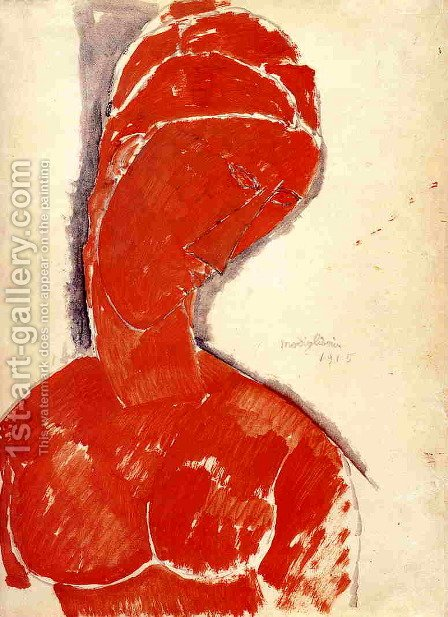 Nude Bust by Amedeo Modigliani - Reproduction Oil Painting
