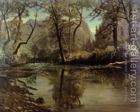 Yosemite Valley, California by Albert Bierstadt - Reproduction Oil Painting