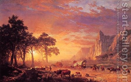 The Oregon Trail by Albert Bierstadt - Reproduction Oil Painting
