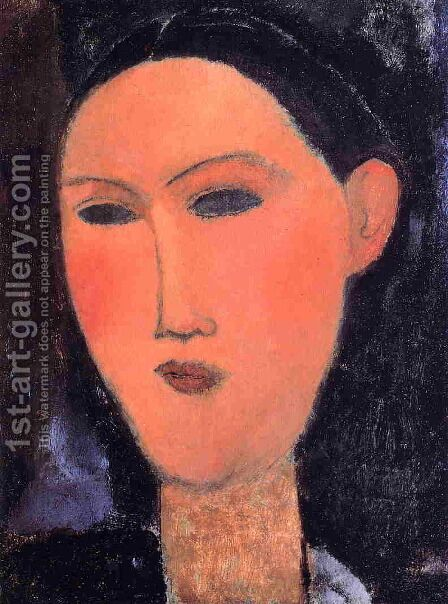 Woman's Head II by Amedeo Modigliani - Reproduction Oil Painting