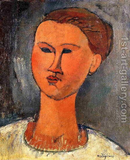 Woman's Head III by Amedeo Modigliani - Reproduction Oil Painting