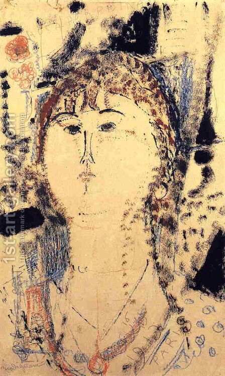 Rosa Porprina by Amedeo Modigliani - Reproduction Oil Painting