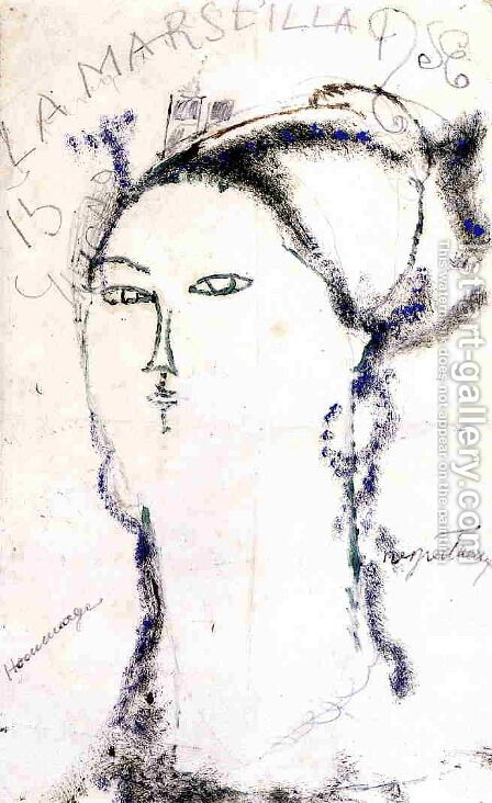 Madame Othon Friesz, La Marseillaise by Amedeo Modigliani - Reproduction Oil Painting