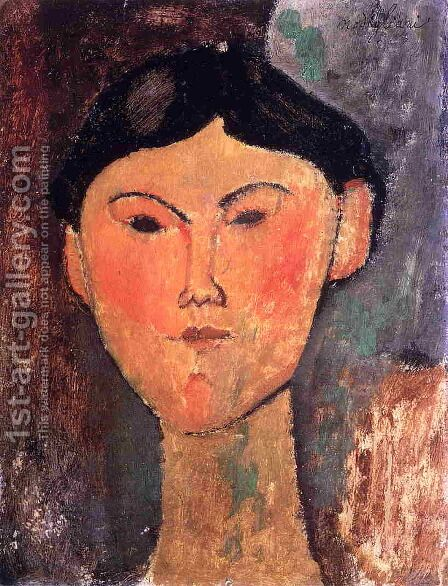 Beatrice Hastings I by Amedeo Modigliani - Reproduction Oil Painting