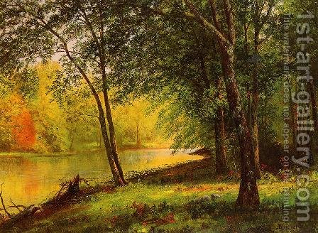 Merced River, California by Albert Bierstadt - Reproduction Oil Painting