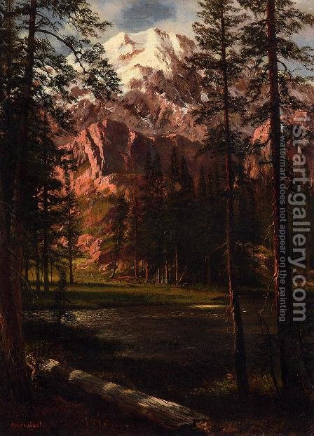 Mountain Lake I by Albert Bierstadt - Reproduction Oil Painting