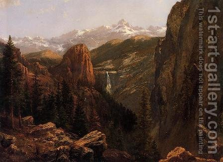 Nevada Falls, Yosemite by Albert Bierstadt - Reproduction Oil Painting