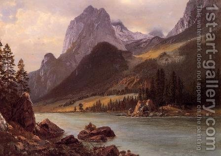 Rocky Mountain I by Albert Bierstadt - Reproduction Oil Painting
