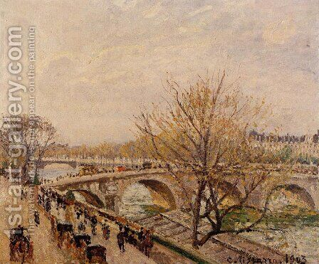 The Seine at Paris, Pont Royal by Camille Pissarro - Reproduction Oil Painting