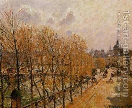 Quai Malaquais - Morning, Sun by Camille Pissarro - Reproduction Oil Painting