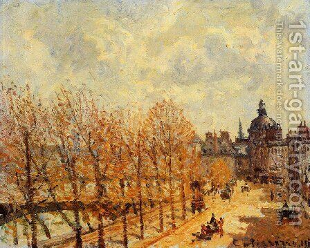 Quai Malaquais, Morning, Sunny Weather by Camille Pissarro - Reproduction Oil Painting