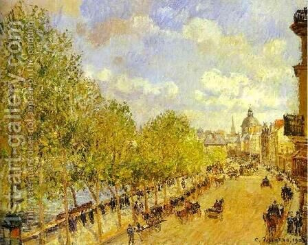 Quai Malaquais in the Afternoon, Sunshine by Camille Pissarro - Reproduction Oil Painting
