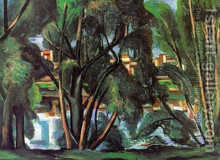 Trees on the Seine by Andre Derain - Reproduction Oil Painting