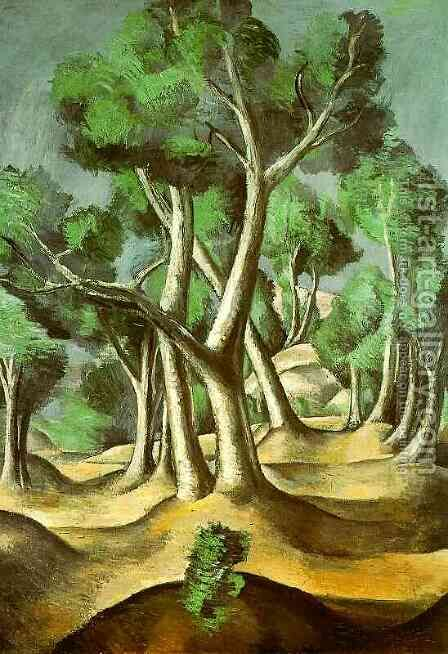Cubist grove by Andre Derain - Reproduction Oil Painting