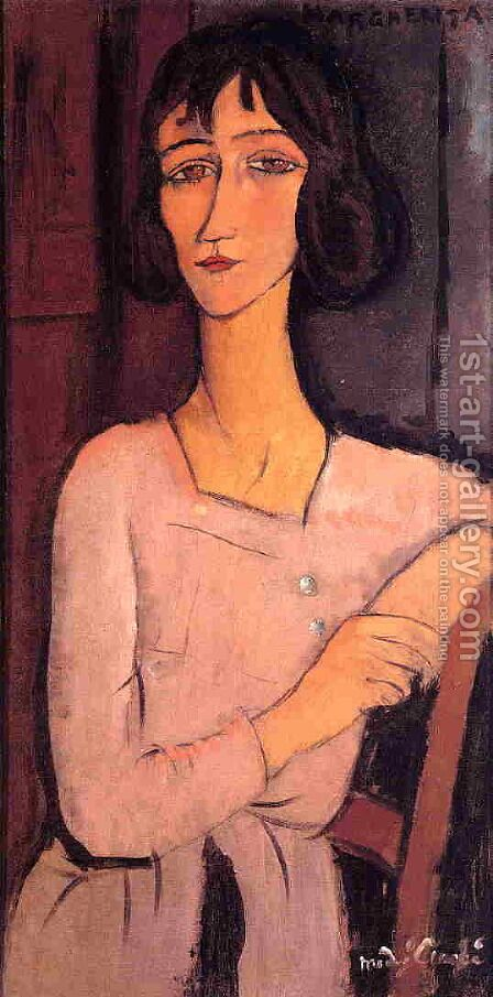 Marguerite Seated by Amedeo Modigliani - Reproduction Oil Painting