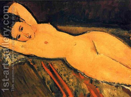 Reclining Nude, Arms Folded under Her Head by Amedeo Modigliani - Reproduction Oil Painting