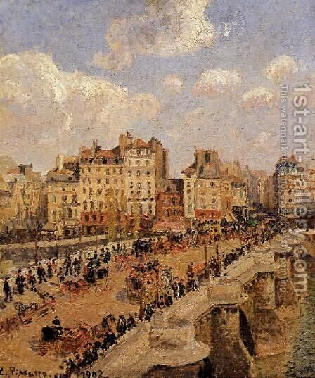 The Pont-Neuf by Camille Pissarro - Reproduction Oil Painting