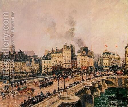 The Pont-Neuf I by Camille Pissarro - Reproduction Oil Painting