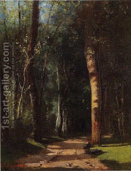 In the Woods by Camille Pissarro - Reproduction Oil Painting