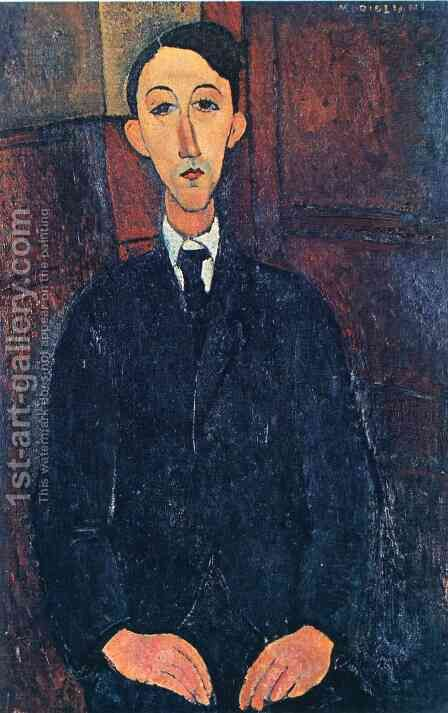 Manuel Humberg Esteve by Amedeo Modigliani - Reproduction Oil Painting
