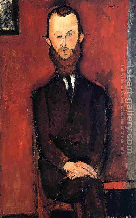 Count Weilhorski by Amedeo Modigliani - Reproduction Oil Painting