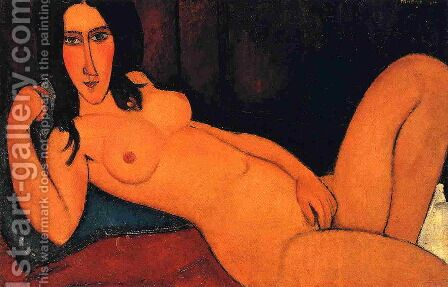 Reclining Nude with Loose Hair by Amedeo Modigliani - Reproduction Oil Painting