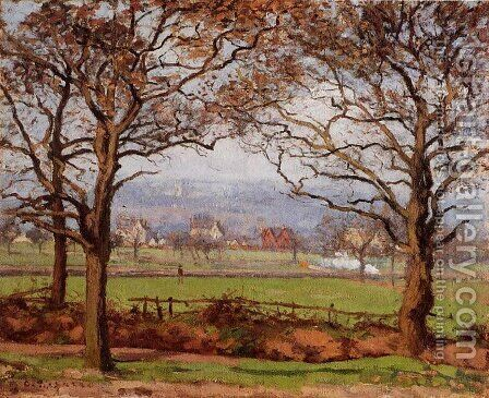 Near Sydenham Hill, Looking towards Lower Norwood by Camille Pissarro - Reproduction Oil Painting