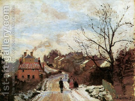 Lower Norwood under Snow by Camille Pissarro - Reproduction Oil Painting