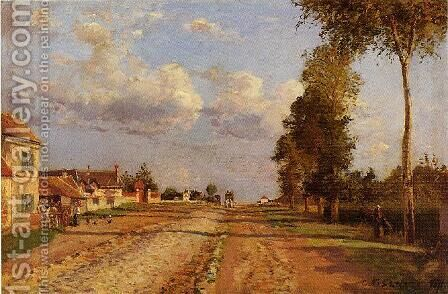 Road to Racquencourt by Camille Pissarro - Reproduction Oil Painting