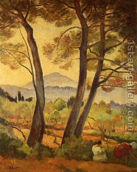 Noon Landscape by Henri Lebasque - Reproduction Oil Painting