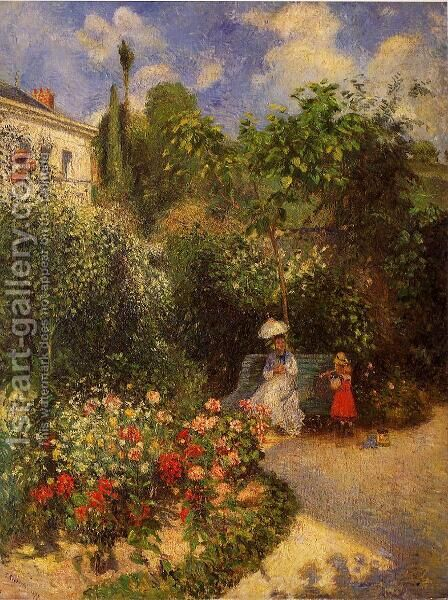 The Garden at Pontoise by Camille Pissarro - Reproduction Oil Painting