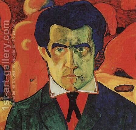 Self portrait I by Kazimir Severinovich Malevich - Reproduction Oil Painting