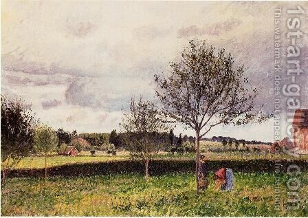 Eragny Landscape, Le Pre by Camille Pissarro - Reproduction Oil Painting