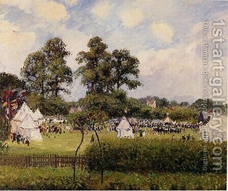 Jubilie Celebration at Bedford Park, London by Camille Pissarro - Reproduction Oil Painting