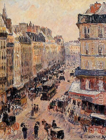 Rue Saint-Lazare by Camille Pissarro - Reproduction Oil Painting