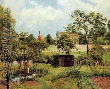 View Across Stamford Brook Common by Camille Pissarro - Reproduction Oil Painting