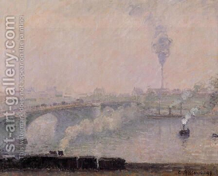 Rouen, Fog Effect by Camille Pissarro - Reproduction Oil Painting
