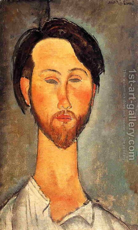 Leopold Zborowski II by Amedeo Modigliani - Reproduction Oil Painting