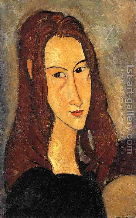 Red Haired Girl by Amedeo Modigliani - Reproduction Oil Painting
